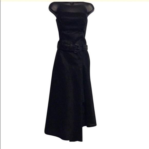 Citrine Strapless Black Dress